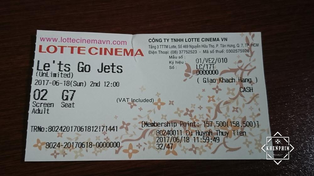 Vé xem phim ở Lotte Cinema Now Zone