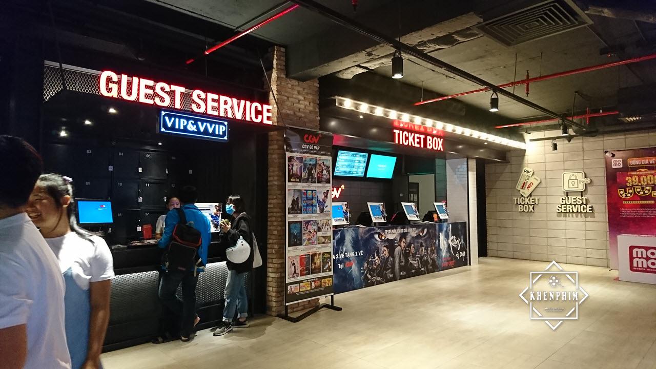 Quầy vé và dịch vụ khách hàng ở CGV Gò Vấp