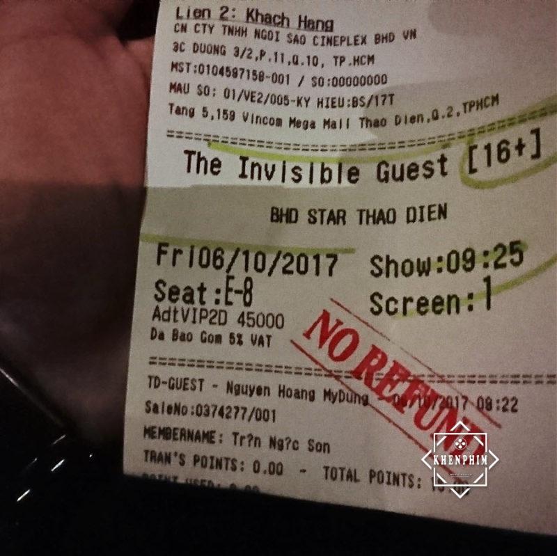 vé xem The Invisible Guest