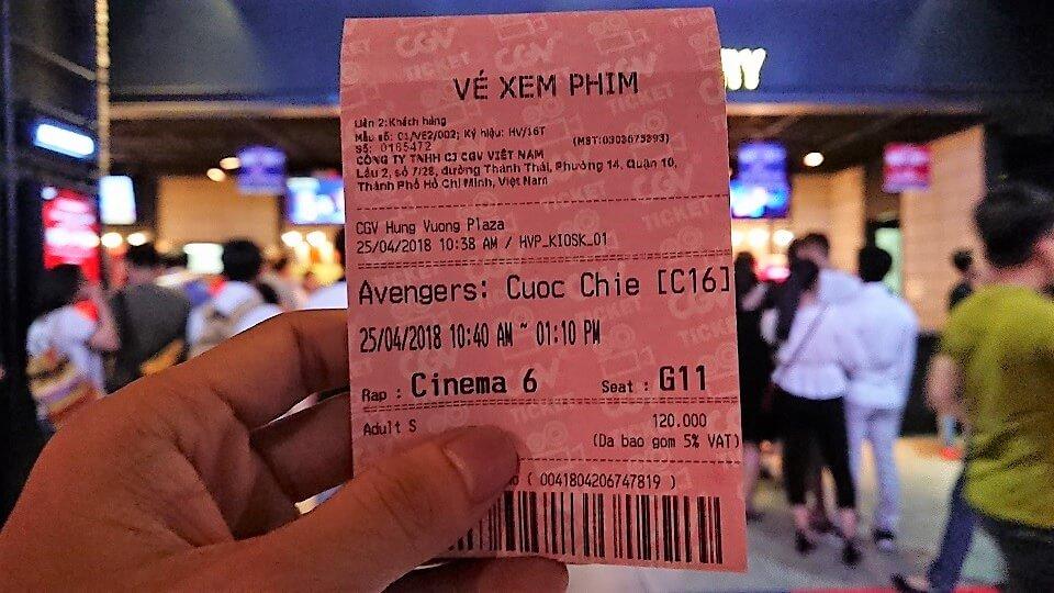 Vé xem phim Avengers: Infinity War