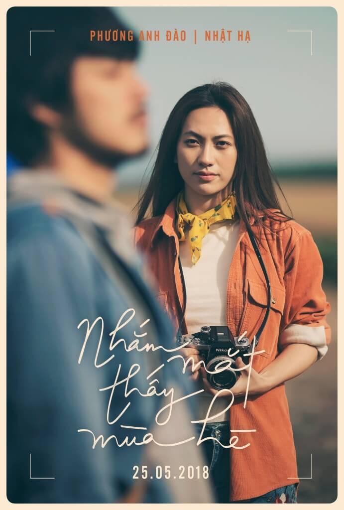 Phương Anh Đào xuất hiện trong poster Nhắm Mắt Thấy Mùa Hè