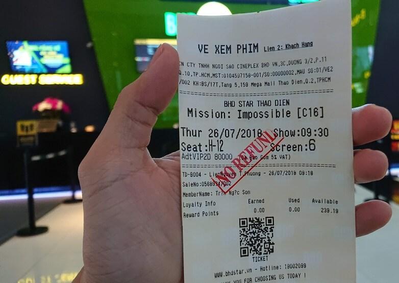 Vé xem phim Mission: Impossible – Fallout