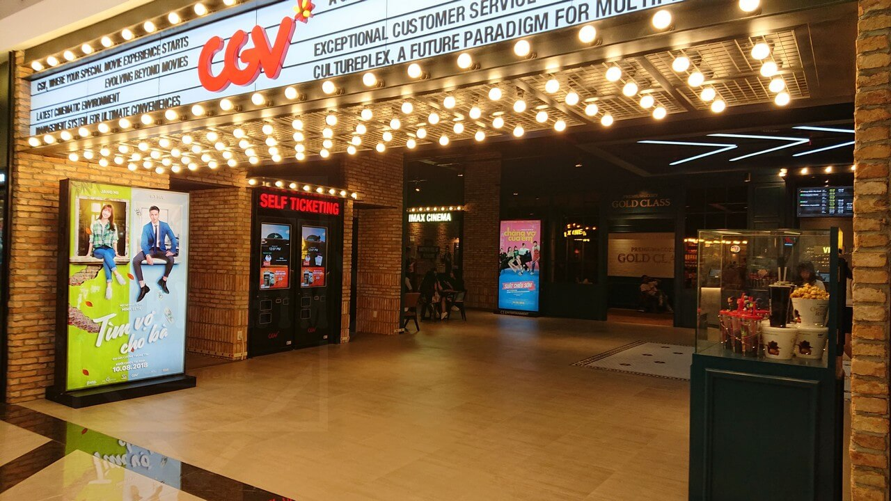 Máy lấy vé tự động ở CGV Vincom Center Landmark 81