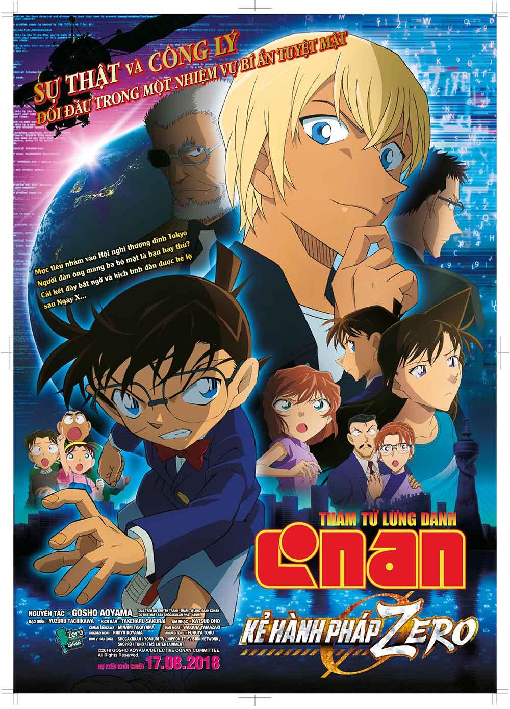 Poster phim Thám Tử Lừng Danh Conan: Kẻ Hành Pháp Zero