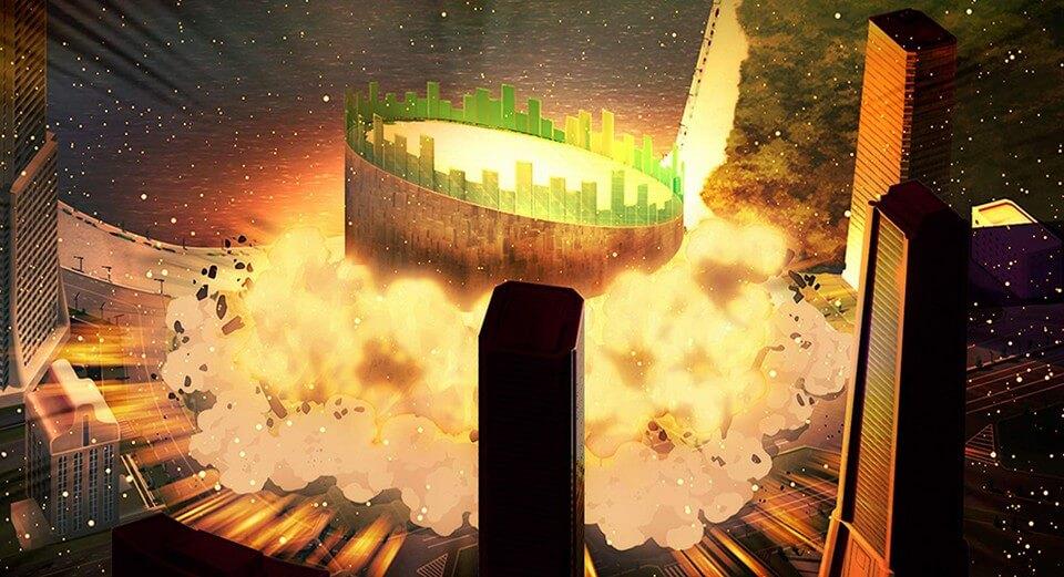 Vụ nổ trung tâm hội nghị trong phim Thám Tử Lừng Danh Conan: Kẻ Hành Pháp Zero