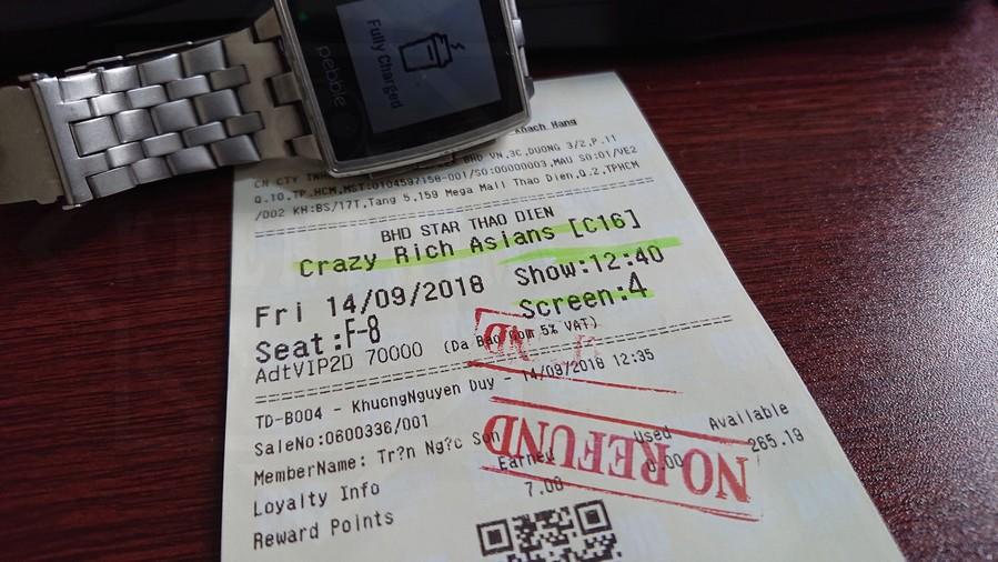 Vé xem phim Con Nhà Siêu Giàu Châu Á (Crazy Rich Asians)