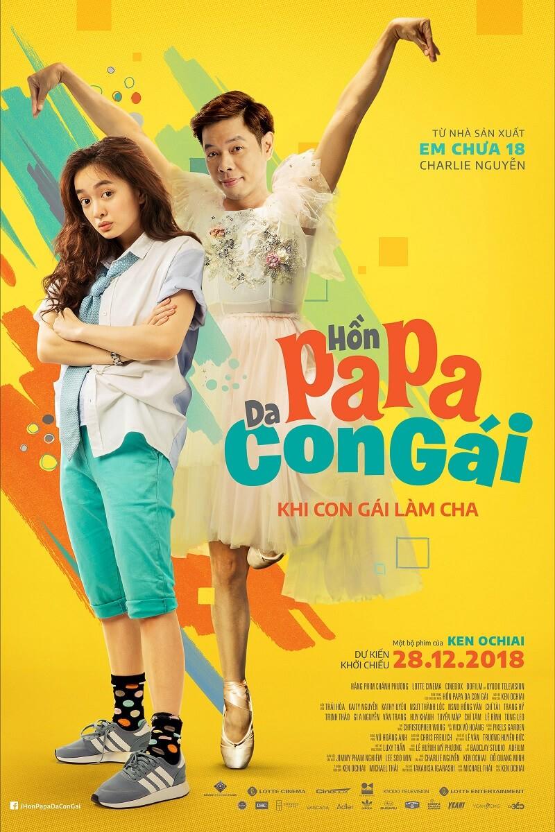 Poster phim Hồn Papa, Da Con Gái