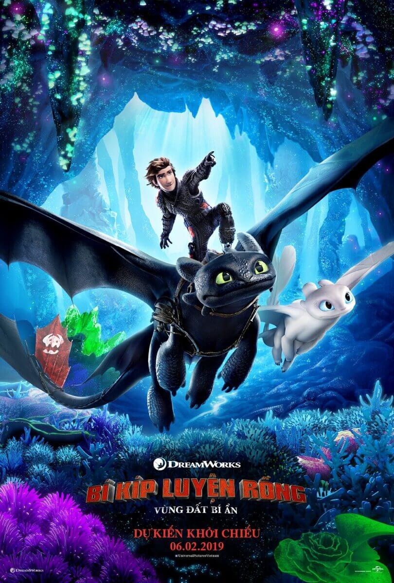 Poster phim Bí Kíp Luyện Rồng 3: Vùng Đất Bí Ẩn (How to Train Your Dragon 3: The Hidden World)