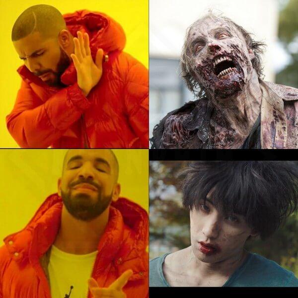 Tạo hình zombie trong phim không quá ghê rợn - Zombie Đại Hạ Giá