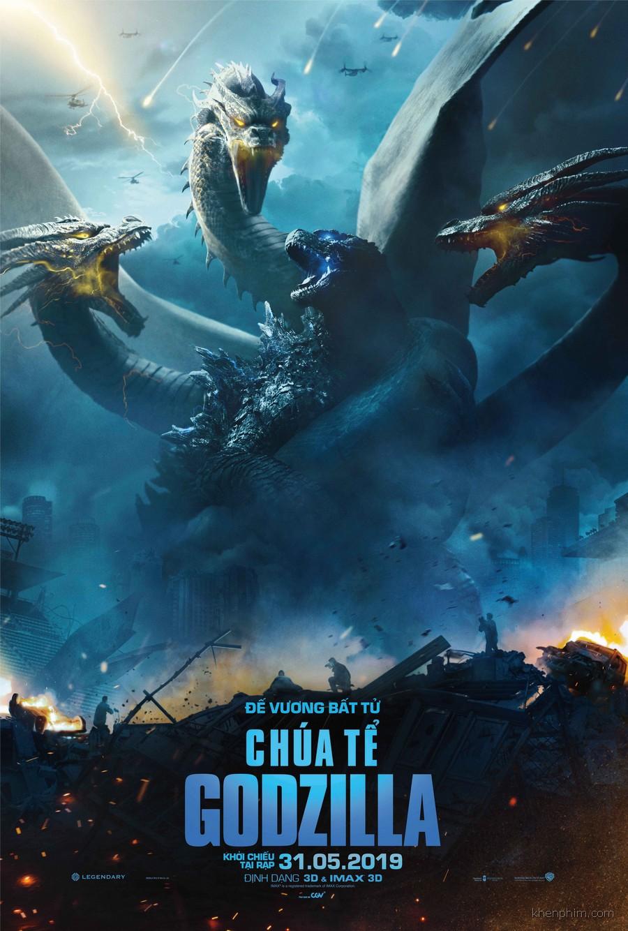 Poster phim Chúa Tể Godzilla