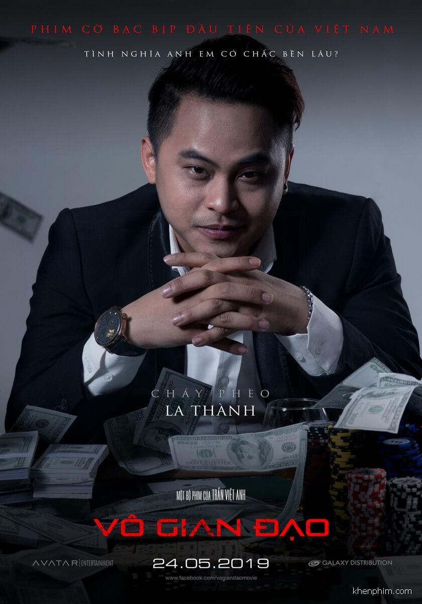 La Thành trong tấm poster phim Vô Gian Đạo