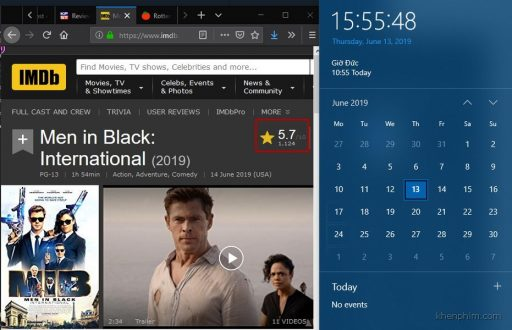Điểm số trên IMDb của Men in Black