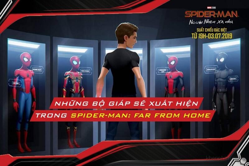Những bộ giáp của Spider-Man trong phần phim này