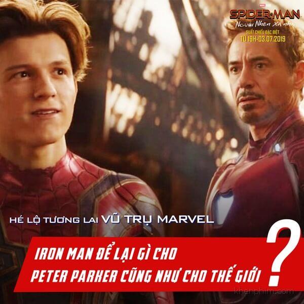 Tony Stark sẽ để lại gì cho Spider-Man?