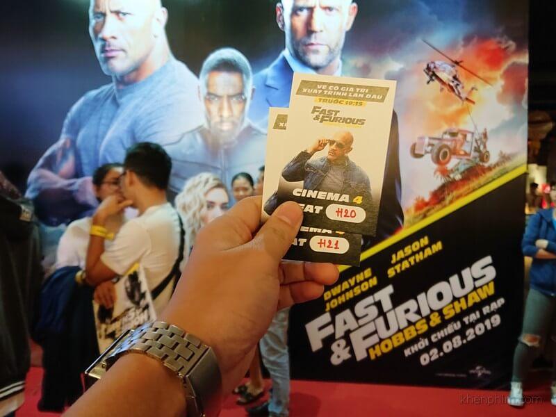 Vé xem phim Fast & Furious: Hobbs & Shaw