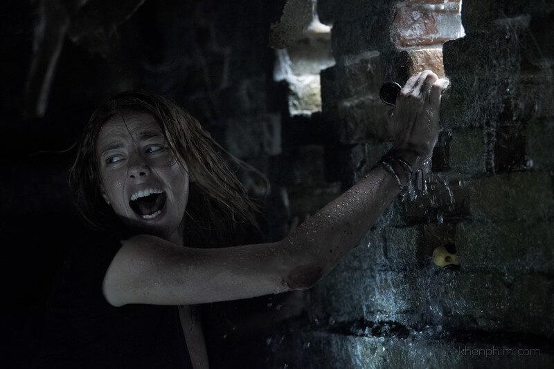 Kaya Scodelario diễn khá tròn vai trong phim Địa Đạo Cá Sấu Tử Thần
