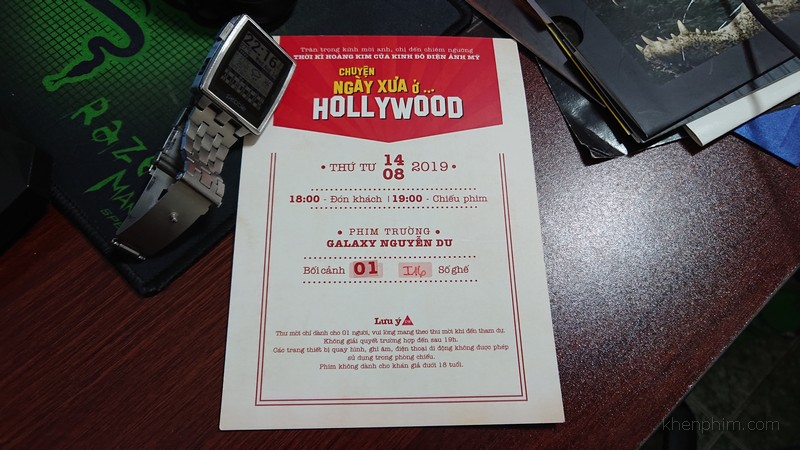 "Vé xem phim ""Once Upon a Time ... in Hollywood"""