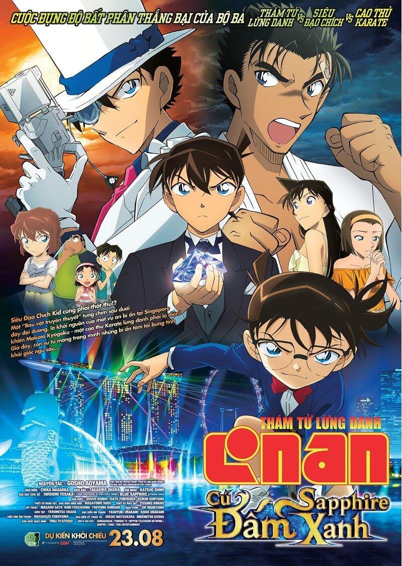 Poster phim Thám Tử Lừng Danh Conan: Cú Đấm Shapphire Xanh