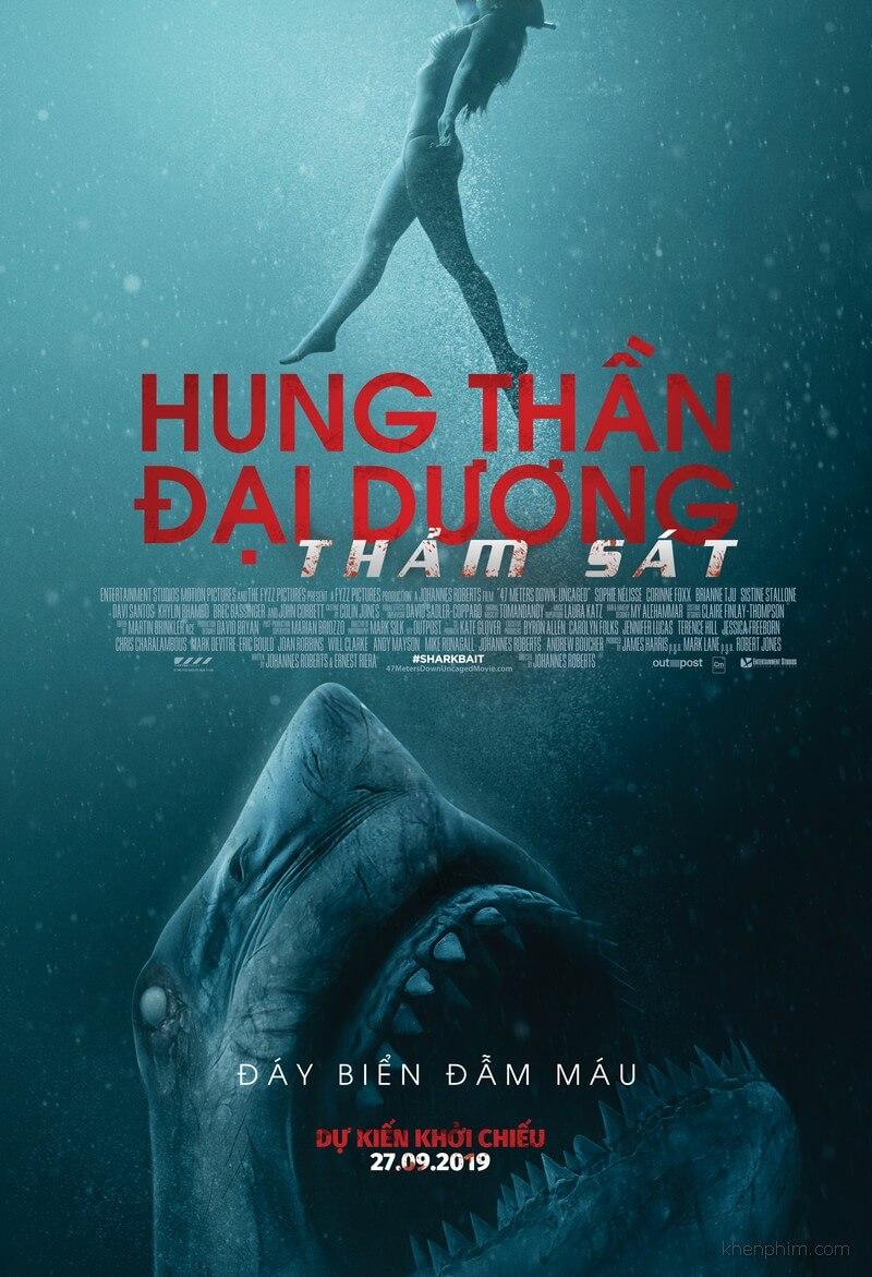 Poster phim 47 Meters Down - Hung Thần Đại Dương 2