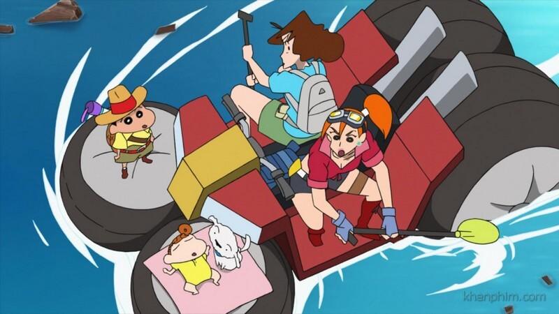 """Shin và mẹ cùng """"gái đẹp"""" băng rừng lội suối đi cứu bố"""