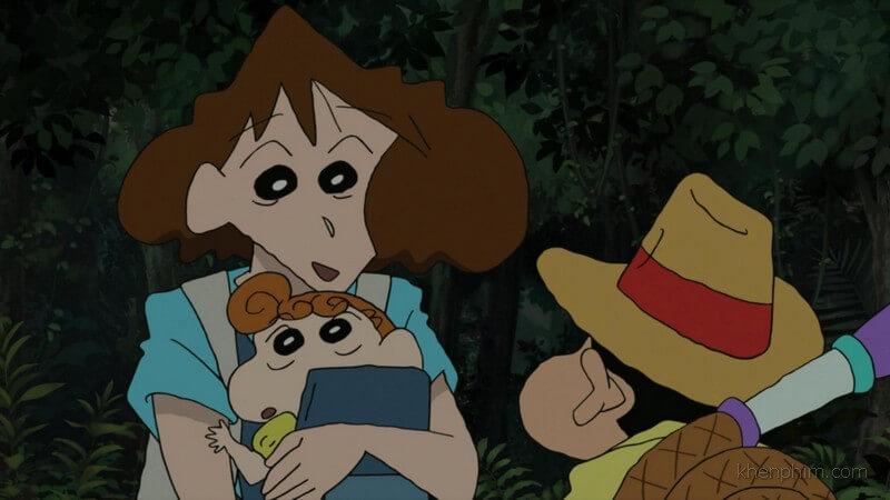 Ba mẹ con Shin vượt rừng đi giải cứu bố