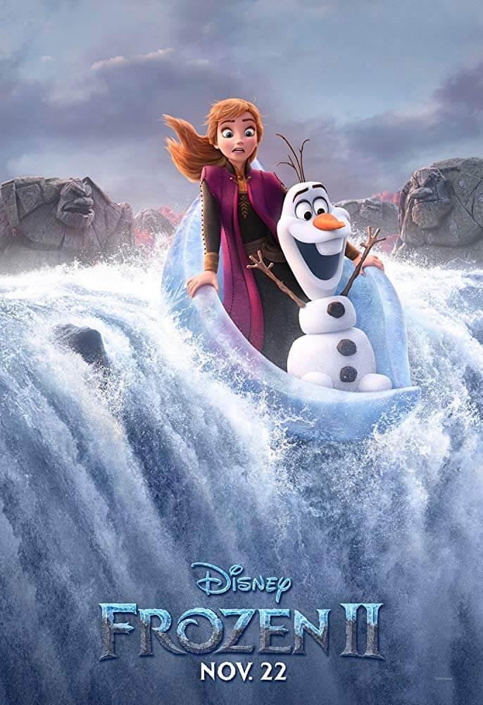 Anna và Olaf đang trượt thác