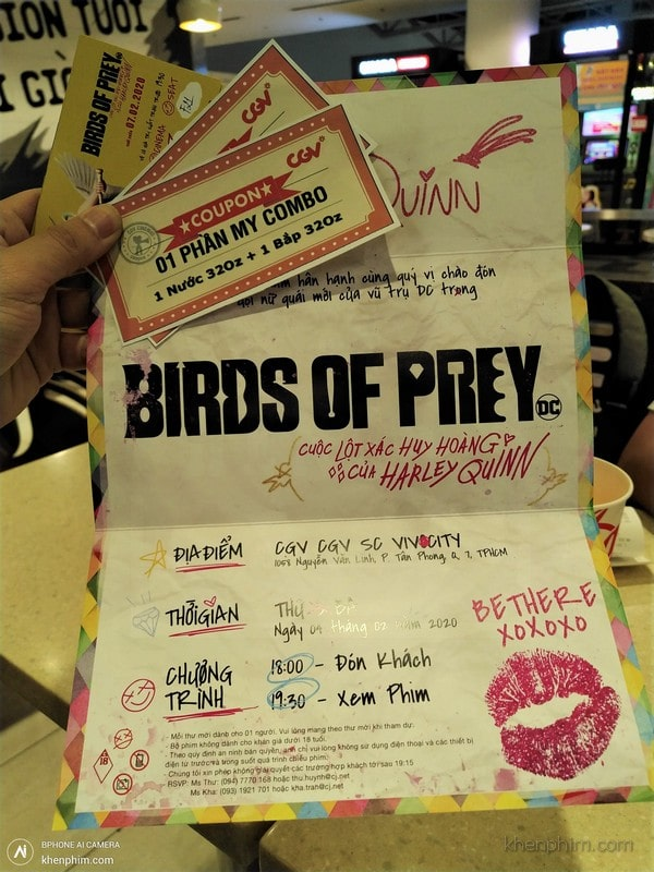 Vé xem phim Birds of Prey