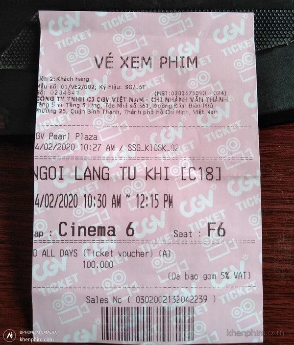 Vé xem phim Ngôi Làng Tử Khí