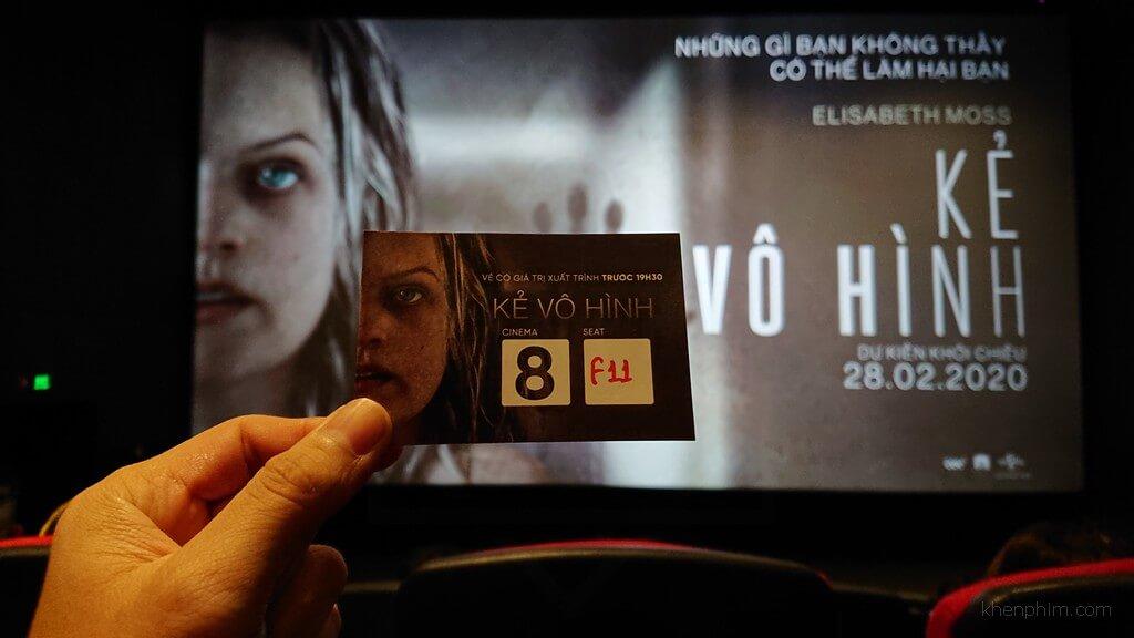 Vé xem phim Kẻ Vô Hình (The Invisible Man) tại buổi họp báo