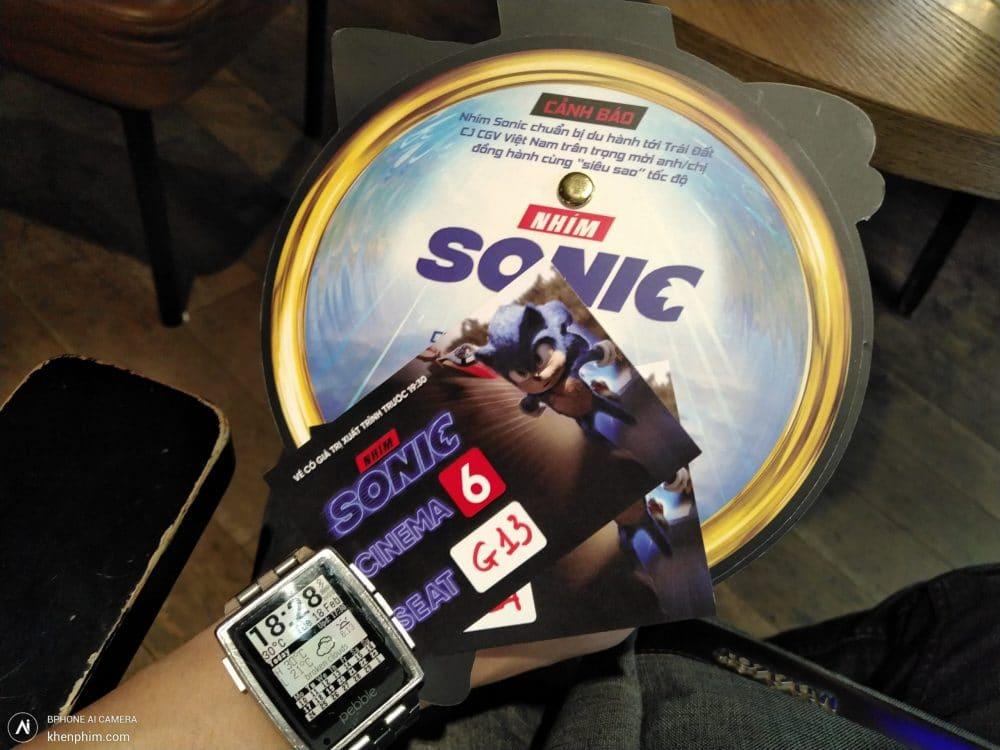 Vé xem phim Nhím Sonic