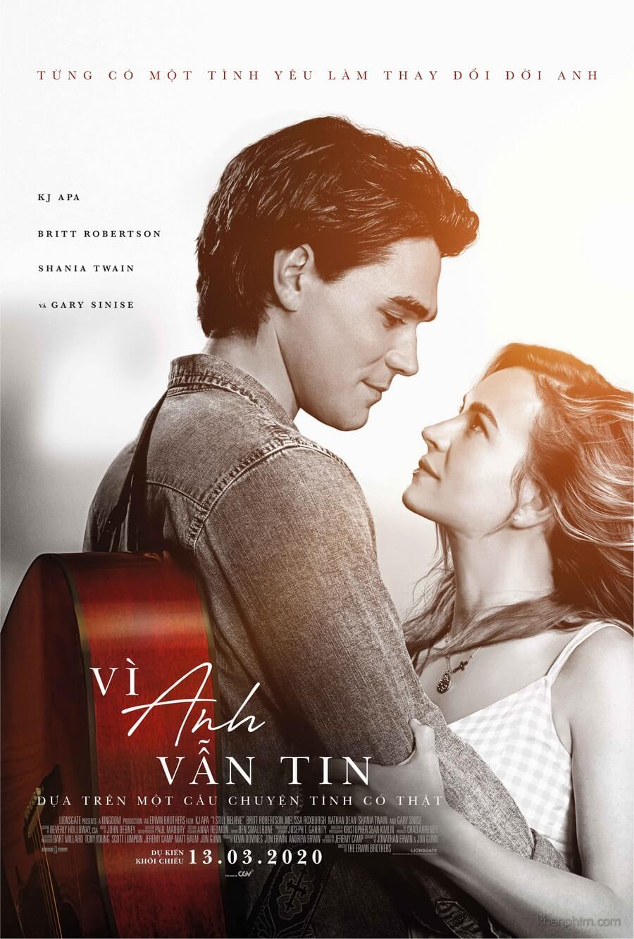 Poster phim Vì Anh Vẫn Tin - I Still Believe