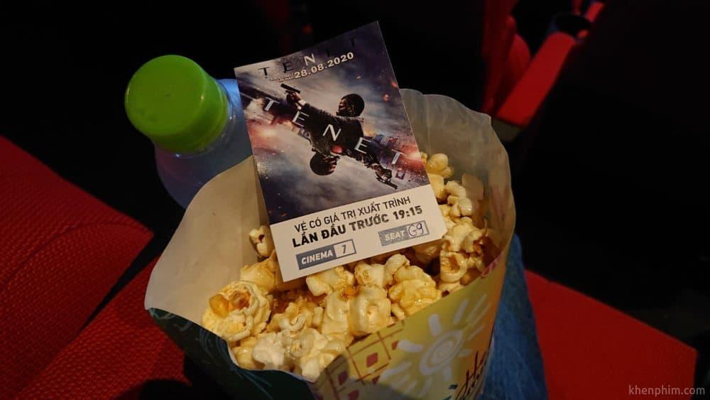 Vé xem phim Tenet