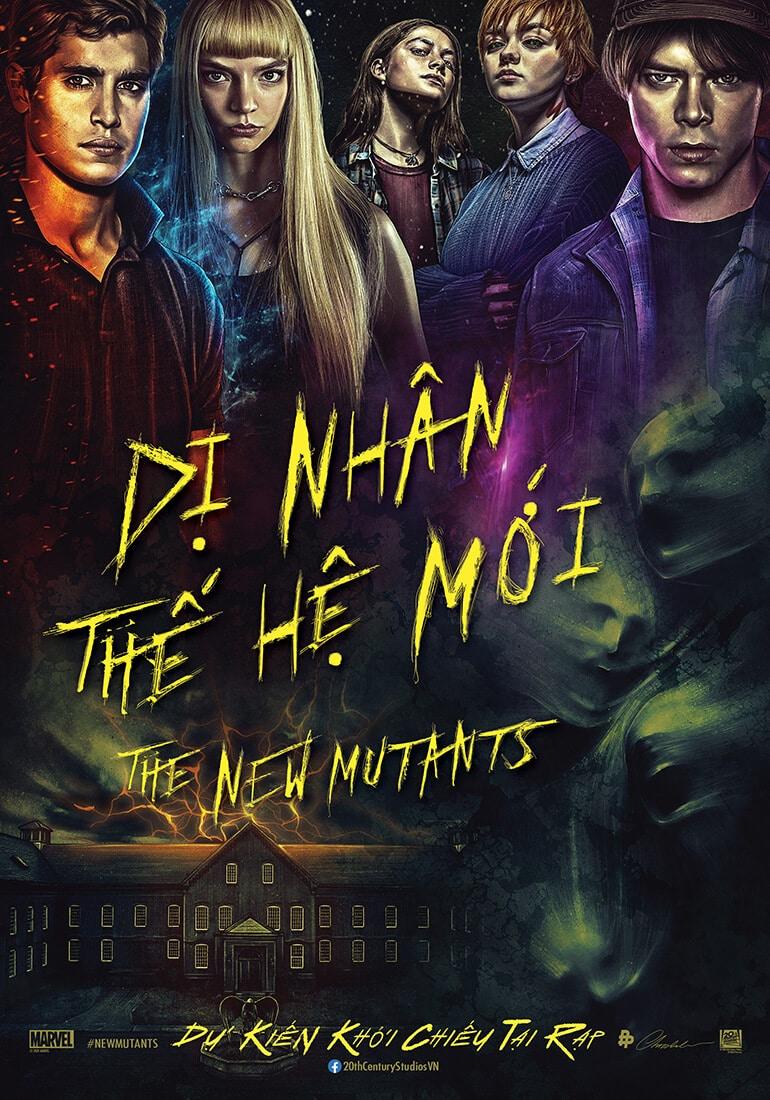 Poster phim The New Mutants (Dị Nhân Thế Hệ Mới)