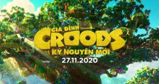 Banner bài review phim The Croods: A New Age (Gia Đình Croods: Kỷ Nguyên Mới)