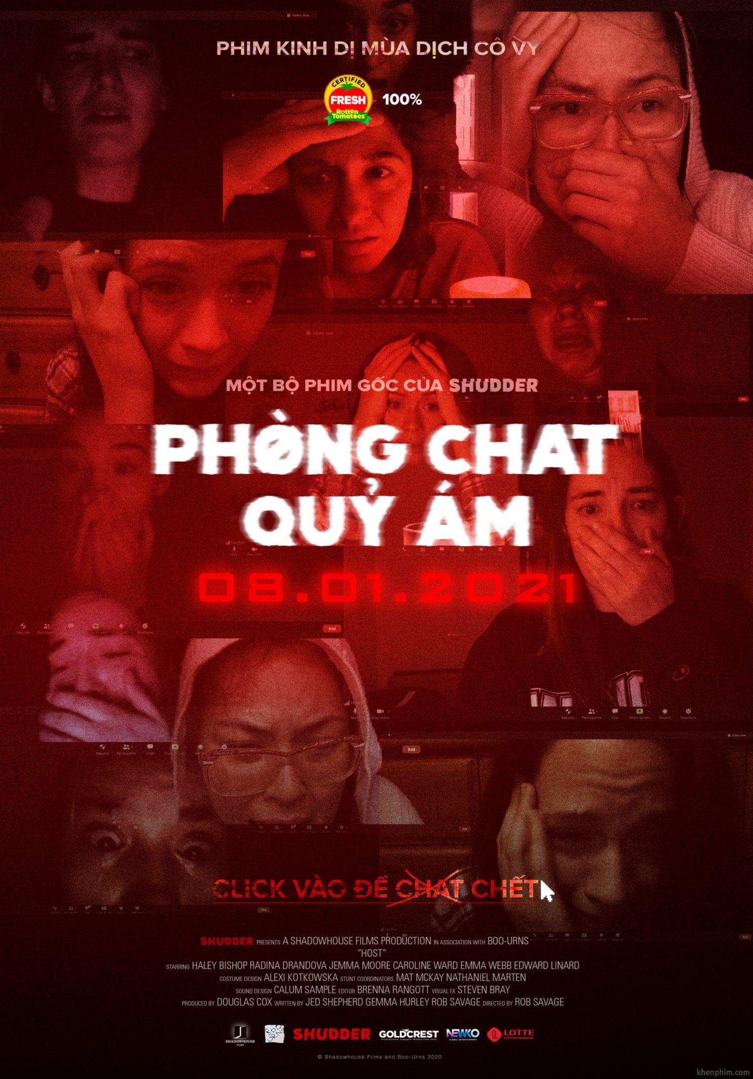 Poster phim Host (Phòng Chat Quỷ Ám)