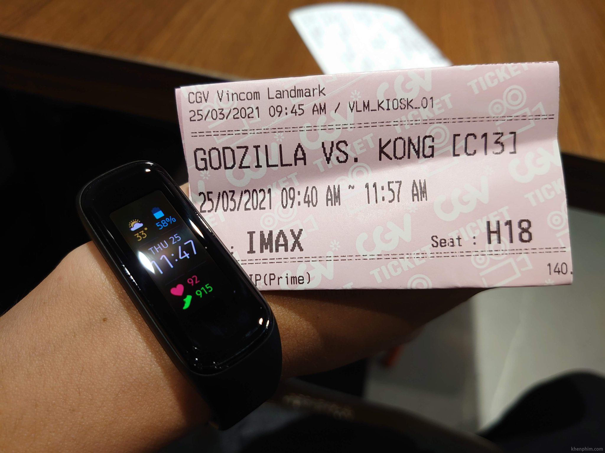 Vé xem phim Godzilla vs. Kong