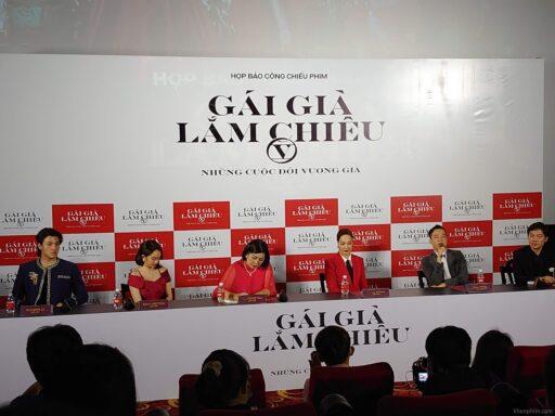 Hình ảnh tại buổi họp báo ra mắt phim Gái Già Lắm Chiêu V
