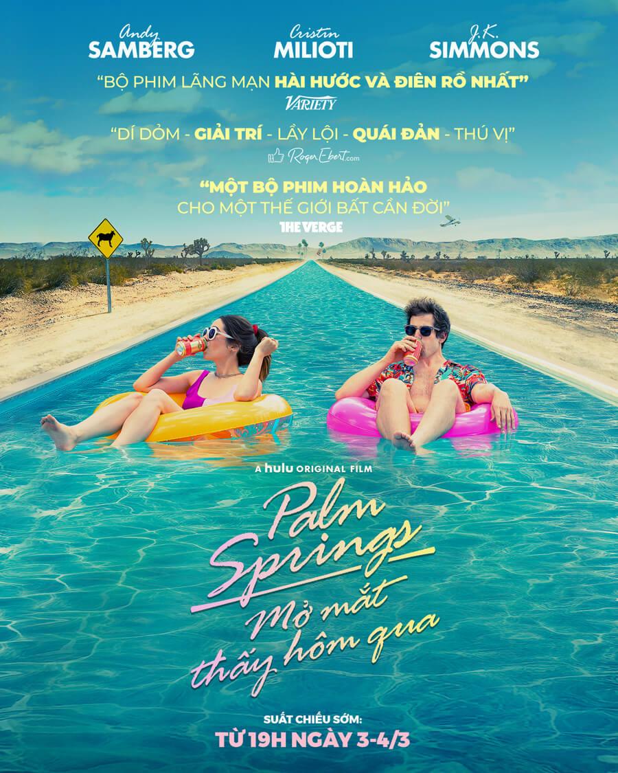 Poster phim Palm Springs (Mở Mắt Thấy Hôm Qua)