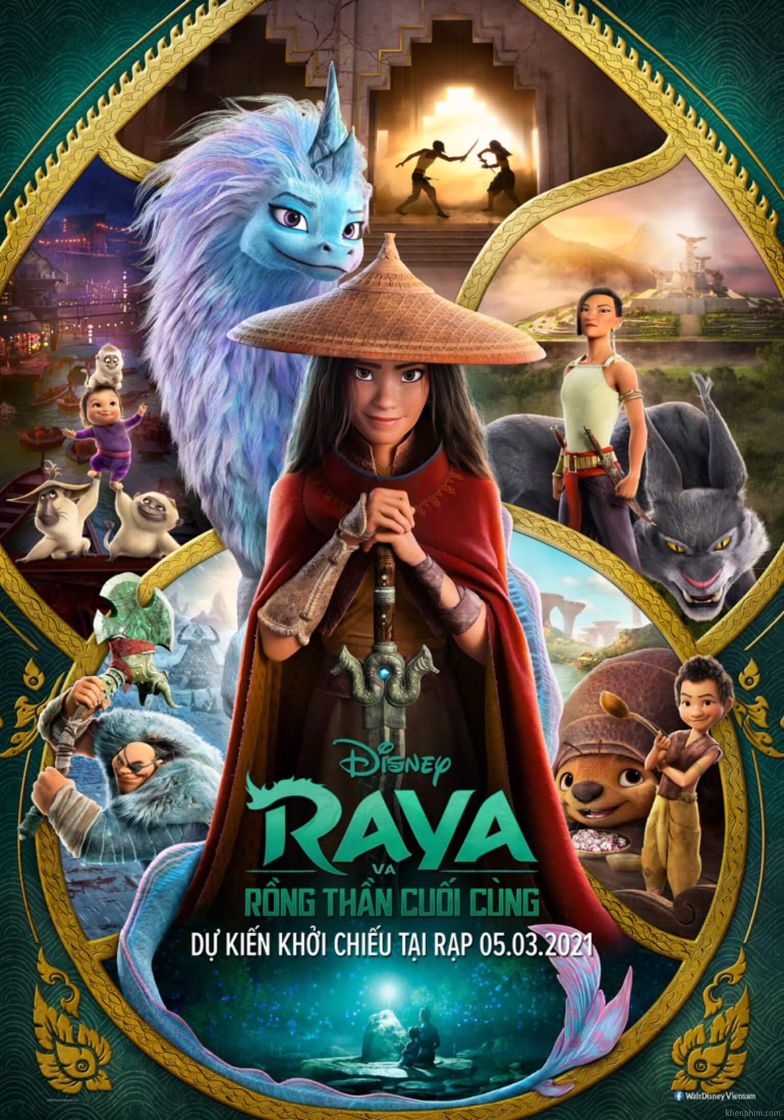 Poster phim Raya và Rồng Thần Cuối Cùng