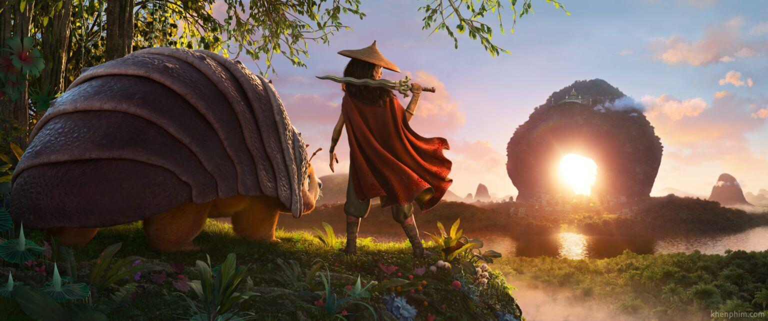 Khung cảnh trong phim rất đẹp - Raya và Rồng Thần Cuối Cùng