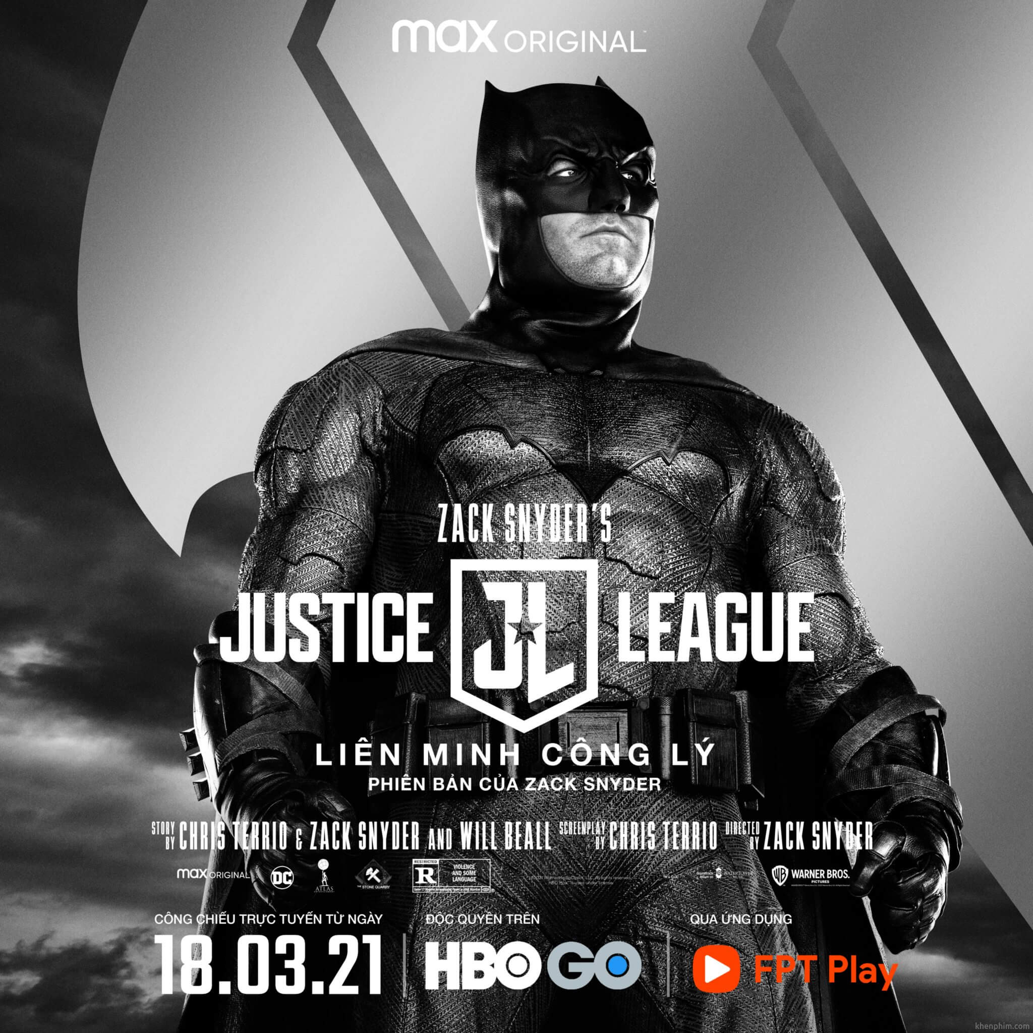 Poster nhân vật trong phim Zack Snyder's Justice League - Batman