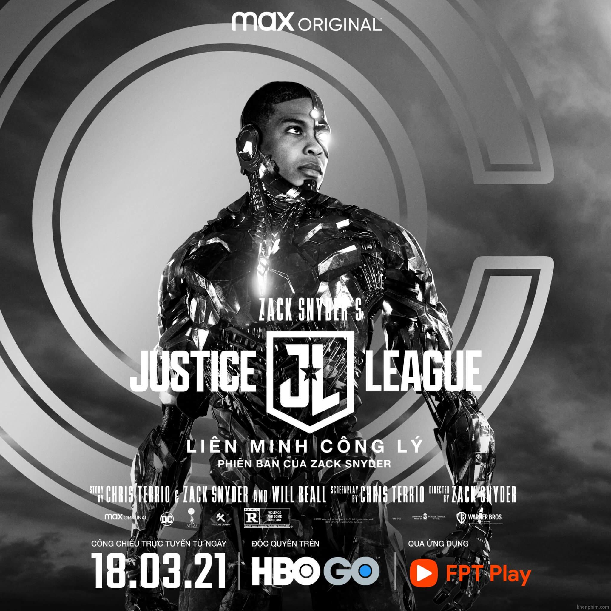 Poster nhân vật trong phim Zack Snyder's Justice League - League Cyborg