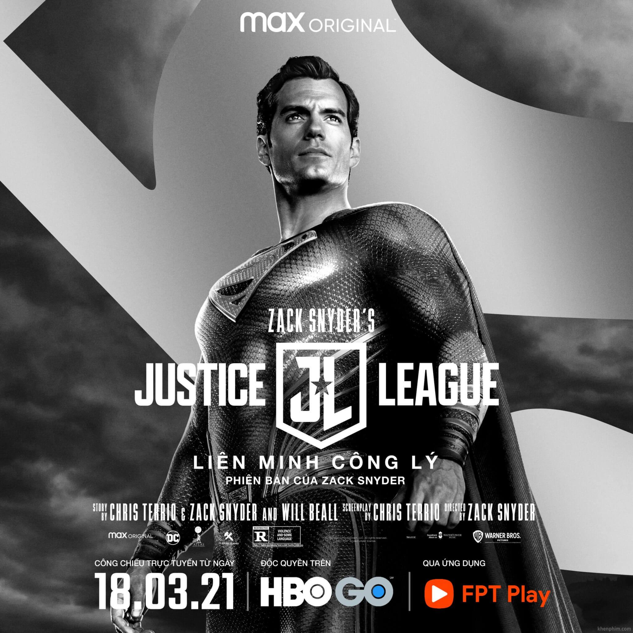 Poster nhân vật trong phim Zack Snyder's Justice League - Superman
