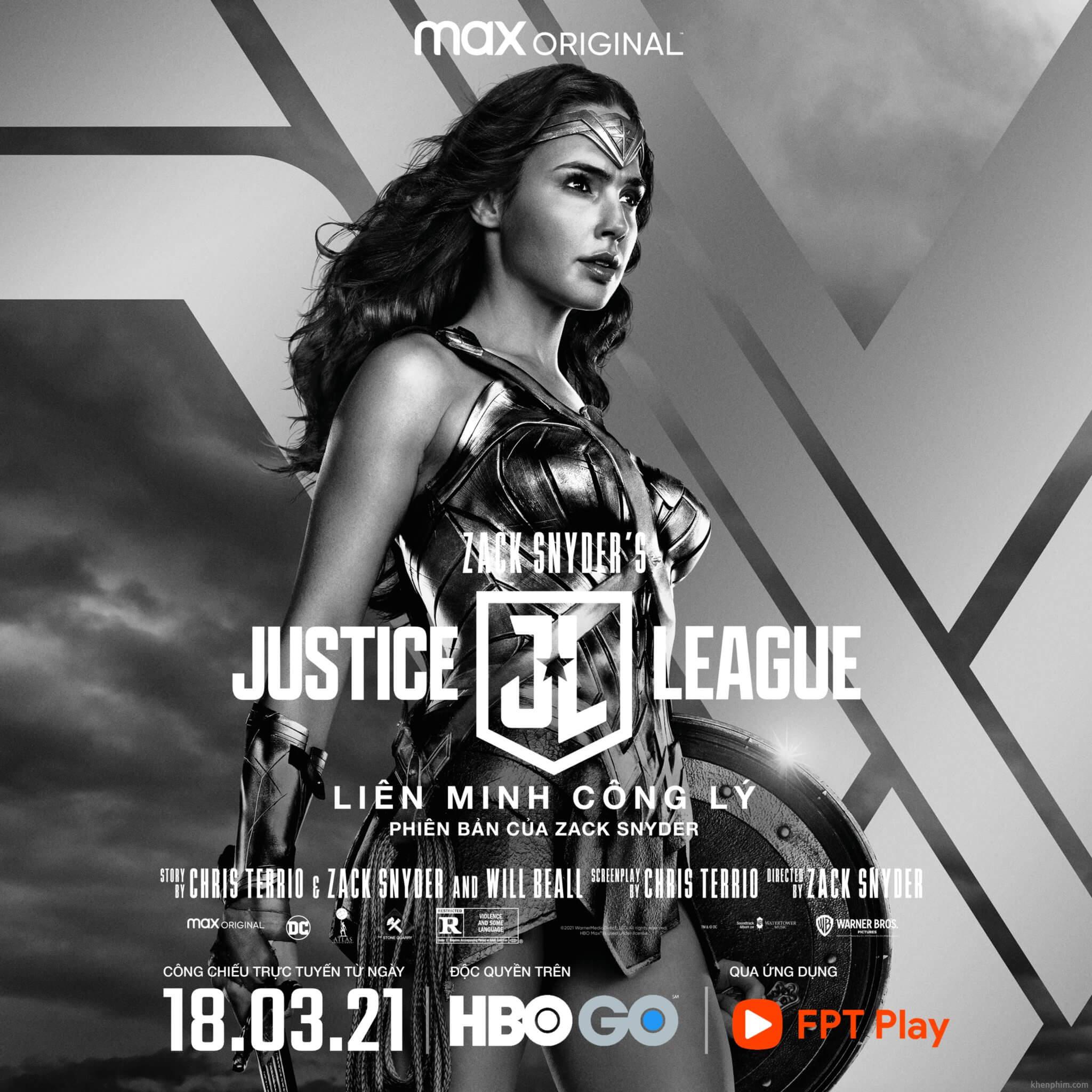 Poster nhân vật trong phim Zack Snyder's Justice League - Wonder Woman
