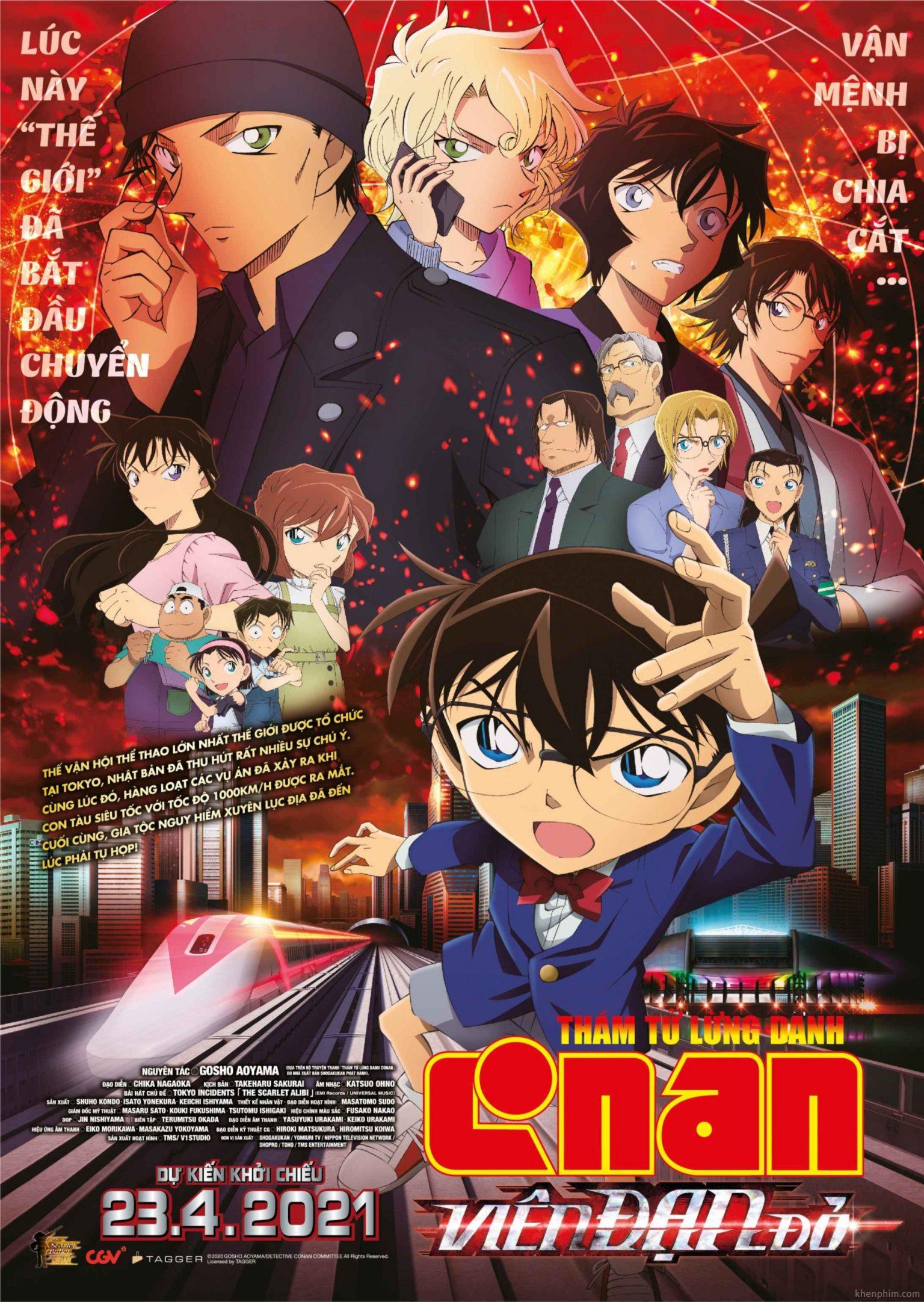 Poster phim Thám Tử Lừng Danh Conan: Viên Đạn Đỏ
